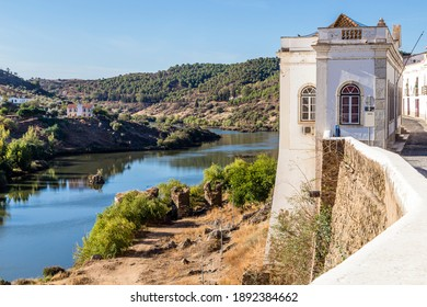 old town of Mertola with Guadiana river, Alentejo, Portugal