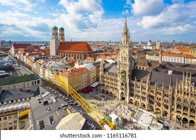 Old Town of Munich cityscape skyline in Germany.