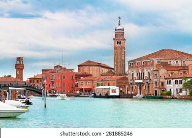 Old town of Murano island, Venice, Italy