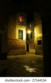 Old town in the night (Venice, Italy)