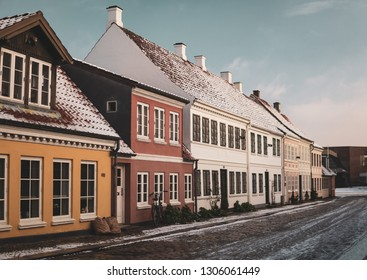 Old town of Odense city, Denmark
