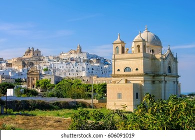 the old town Ostuni in Apulia, Italy