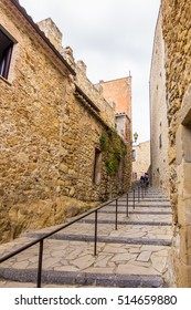 Old town of Pals in Girona, Catalonia, Spain.