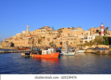 Old town and port of Jaffa of Tel Aviv city. The famous tourist place, the concept of tourism in Israel.
