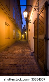 old town in Prague by night