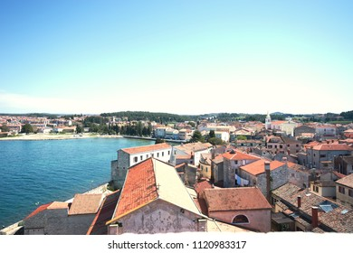 Old town of Pula city Croatia