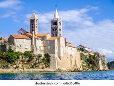 old town of rab in croatia