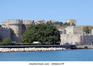 the old town of Rhodes, Greece