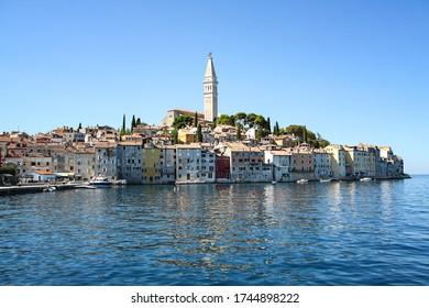 The old town of Rovinj in Croatia / Istria in the Adriatic Sea.