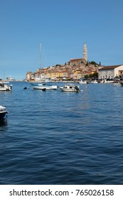 The Old Town of Rovinj rises up on a peninsula
