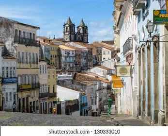 Old town of Salvador de Bahia, Brazil.