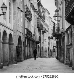 Old town of Santiago de Compostela (Galicia, Spain)