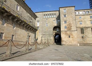 Old town of  Santiago de Compostela Spain