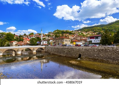 Old town Sarajevo - Bosnia and Herzegovina - architecture travel background