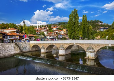 Old town Sarajevo - Bosnia and Herzegovina - architecture travel background