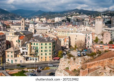 Old town of Savona-overview, Italy, travel landmark