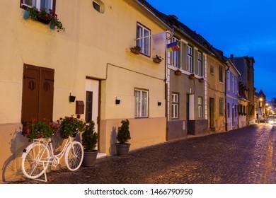 Old Town of Sibiu. Sibiu, Sibiu County, Romania.
