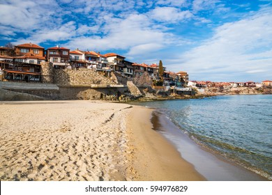 Old town of Sozopol, Bulgaria - historic place and beautiful summer sea resort. Travel to Bulgaria concept.