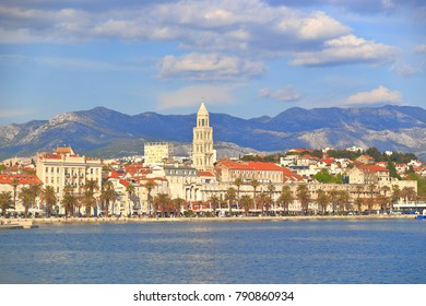 Old town of Split on the Adriatic sea shore, Croatia