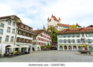 Old town square in the city of Thun Canton Bern, Switzerland