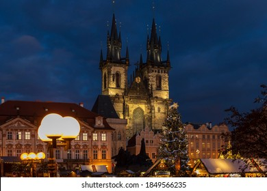 Old town square in Prague at Christmass time, Czech Republic - Shutterstock ID 1849566235