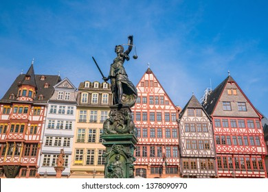Old town square romerberg in Frankfurt, Germany
