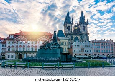 Old Town Square (Staromestske Namesti), Prague, Czech Republic