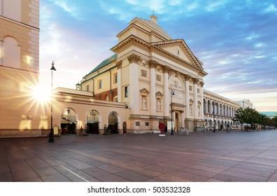 Old Town Stare Miasto, Castle square St. Anne's Church, Warsaw - Shutterstock ID 503532328