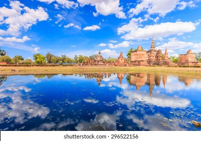 Old town of Sukhothai historical park, the old town of Thailand