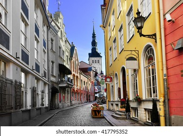 Old town of Tallinn. Tallinn, Estonia, May 2016.
