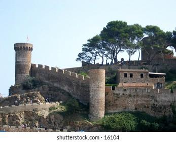 Old town in Tossa de Mar, Spain.