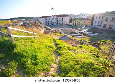 Old town travelling location of Pula city and historical ,Croatia.