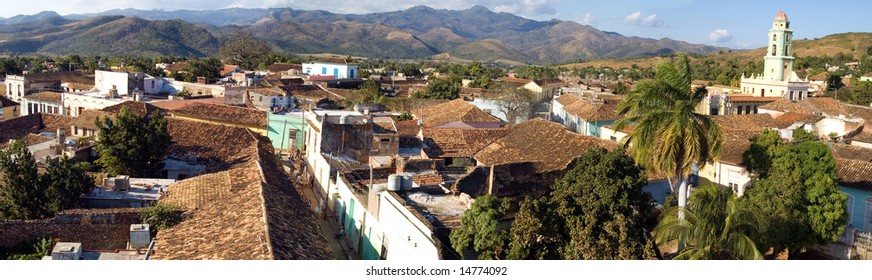 Old town Trinidad, Cuba,  Panoramic view from tower of Museo de Arte Colonial (1)