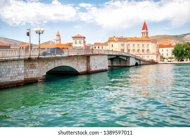 The old town of Trogir in Dalmatia, Croatia, Europe. Trogir is the historical town attracting tourists who visit Croatia.