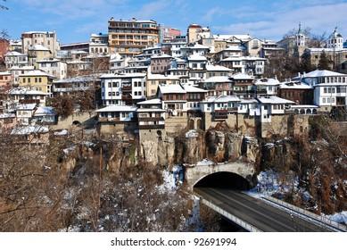 Old Town Veliko Tarnovo above the Yantra river