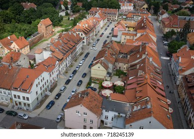 Old town, view of the buildings from the bird's eye view.