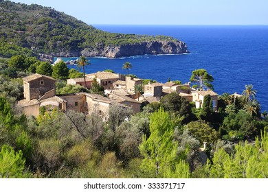 The old town vintage architecture in Llucalcari, Mallorca, Spain.