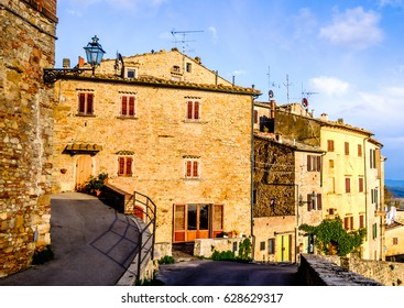 old town of volterra - italy
