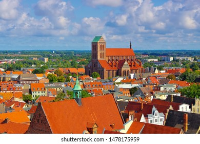 in the old town Wismar, church St. Nikolai in northern Germany