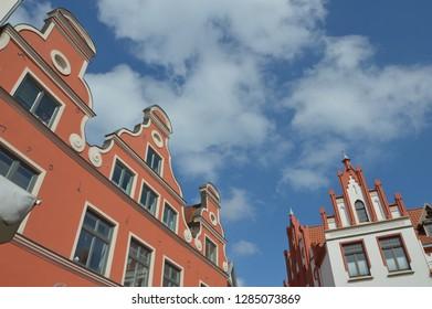 old town in Wismar, mecklenburg western, pomerania, april-30-2027