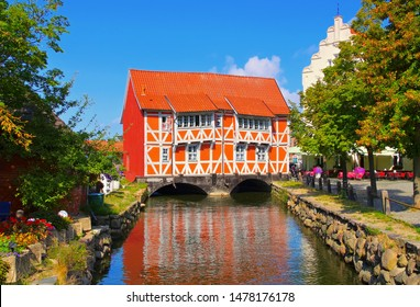 the old town Wismar in northern Germany, the red house