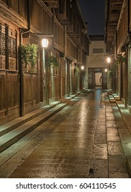 Old town of Wuzhen, China at night