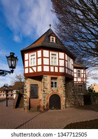 The old townhall of Bruchkobel in Hesse, Germany
