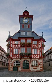 At the old townhall of Heppenheim, Hesse, Germany