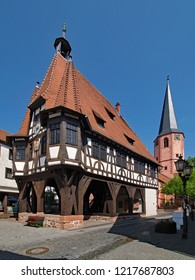 At the old townhall of Michelstadt, Hesse, Germany