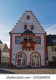 At the old townhall of Windecken, Hesse, Germany