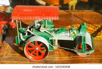 Old toy steamroller
