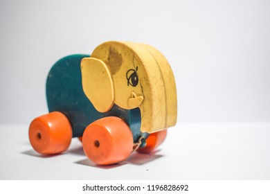 Old toys - Elephant whell drag toy in childhood
