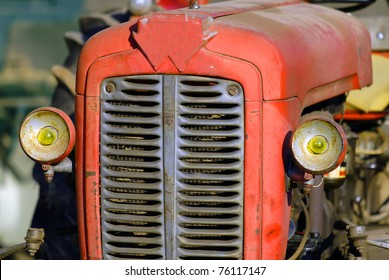 an old tractor