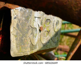 Old tractor numberplate